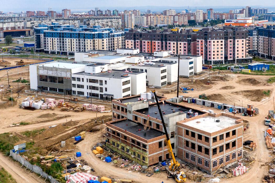 строительство школы и детского сада в Преображенском